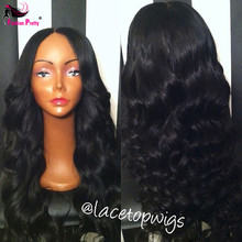 100% Brazilian full lace wig body wave Virgin Human Hair wavy Full lace wig/Glueless Lace Front Wigs Baby Hair in Stock !!!(China (Mainland))