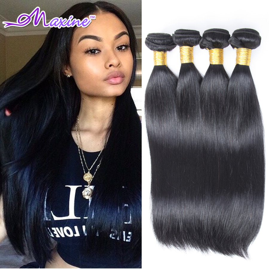 Malaysian Virgin Hair 4 Bundles Vip Beauty Hair Products Malaysian Straight Hair Human Hair Extensions Kinky Straight Hair Weave