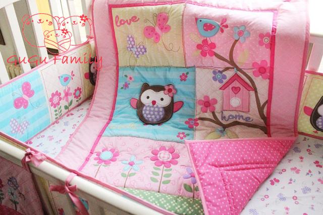 Горячая распродажа новый 8 шт. кроватки детская кроватка постельного белья одеяло ...