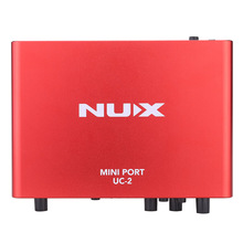 NUX UC-2 Mini Port USB XLR 6.35mm Input Output Audio Interface for Mic MIDI Instrument Recording Playback(China (Mainland))