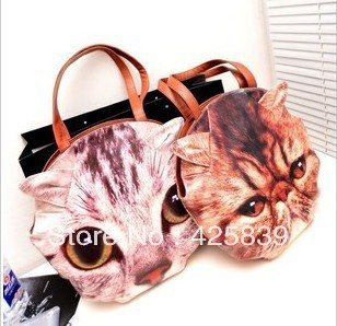 Best quality Free shipping 2013 The new cat face and shoulder bag diagonal package are two cat face