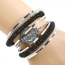 Мода женской старинные браслет бусины браслет набрать кварцевые наручные часы девушки намекает наручные часы # L05496