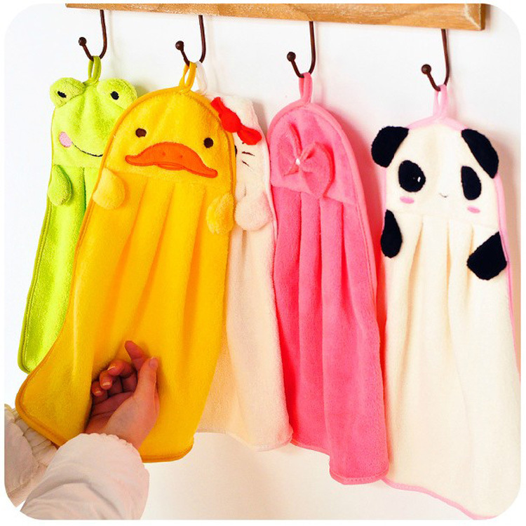 Wholesale baby Hot Lovely Cartoon Chads Hand Towel Many Design Chenille Hanging Chads Bath Towel Dry Home Textile for Kids Child(China (Mainland))