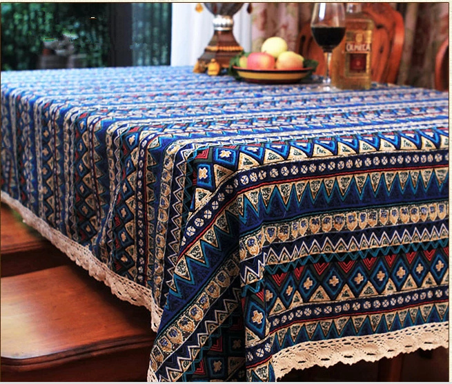 Linen Table Cloth Tableclothes Iron Tower Print Dining Table Cover Kitchen Home Textile Home decor Zakka Free Shipping(China (Mainland))