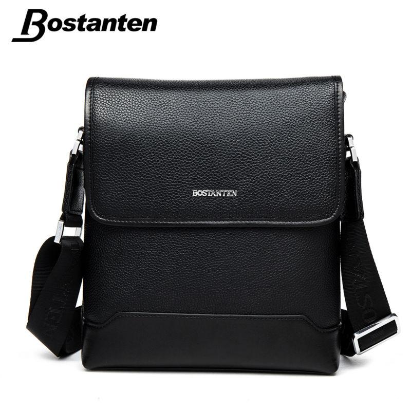 Bostanten Genuine Leather Bag Cover Zipper Fashion Famous Brand Men Messenger Bag Small Men Bag Top Quality Vintage Shoulder Bag(China (Mainland))