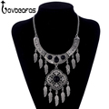 LOVBEAFAS 2017 Fashion Maxi Statement Long Necklaces Pendants Leaves Tassel Collar Vintage Collier Necklace Women Jewelry
