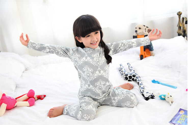 Cute Pyjama Children,Pyama Children Boys,Girls Sleepwear,2016 New Cotton Cloth Full Sleeve Home Amusement 2Pcs Sleepwear Go well with 031610 (3)