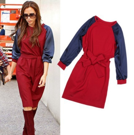 Best quality !!!! 2015 New Fashion spring Winter plus size Tunics Casual cheap china clothes with a zipper free belt Long Sleeve(China (Mainland))
