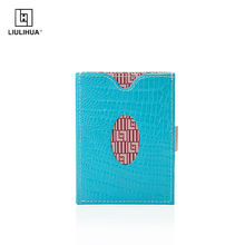 trifold genuine leather funny wallet with stainless steel lock(China (Mainland))