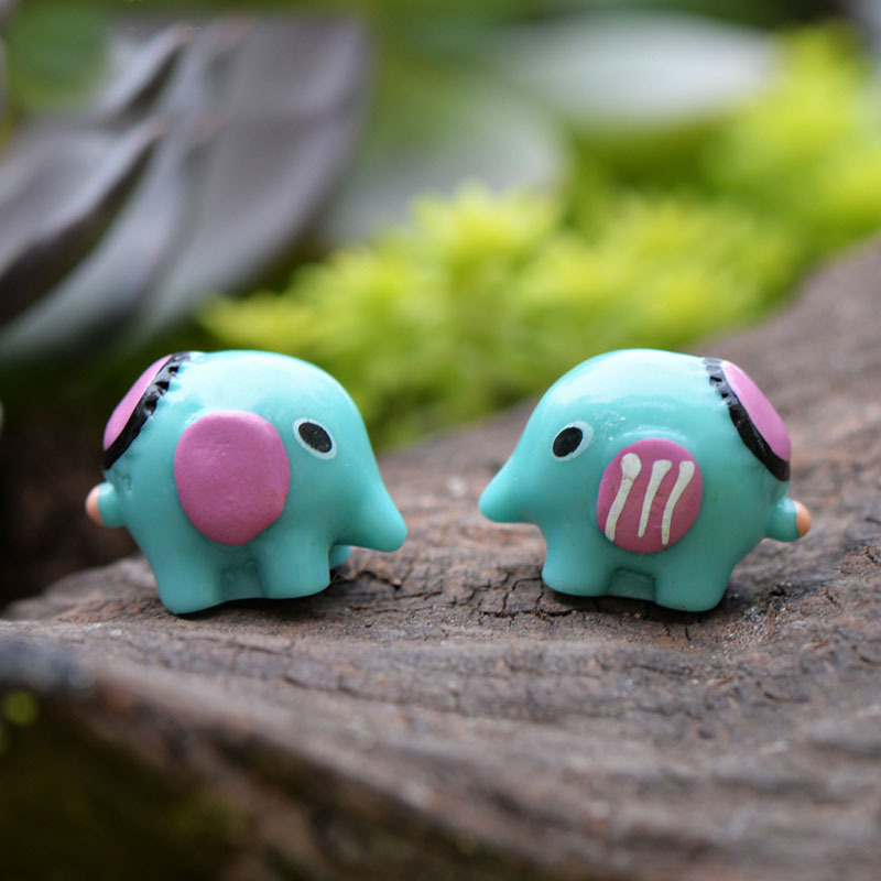 Kawaii elephant mini garden decoration micro landscape for Deco jardin miniature