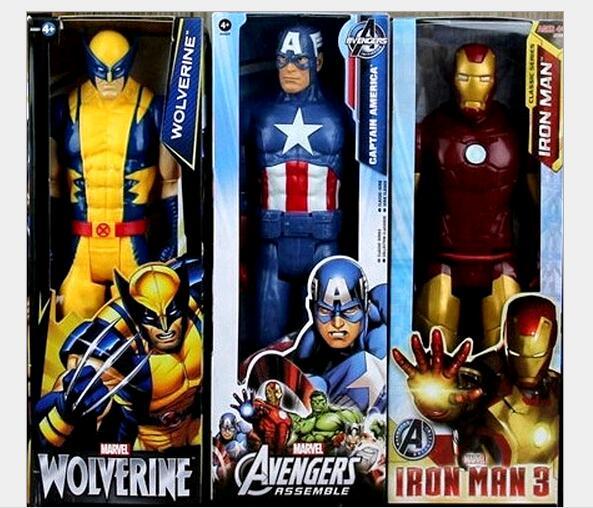8 компл Новый 12 30 СМ Super Hero Человек Паук и Супермен и Капитан и X