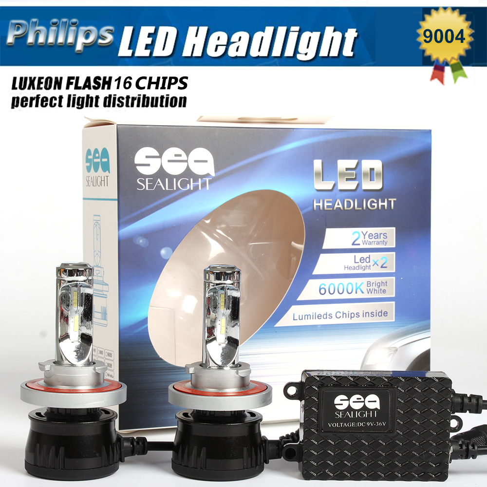 1x Pair 12000LM 96w P hilips Chips H4 Led Headlight Lamp Hi/Lo Auto Led Car Headlight Bulbs HB1 9004 HB5 9007 Led Headlight Bulb(China (Mainland))