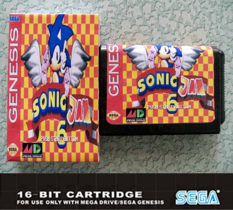 OEM 6 MD 16 Sega Mega  16 bit game card sega