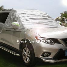 Car Windshield Sun Shade Micro Fiber Winter Car Snow Shield Cover Auto Front Windscreen Rain Frost Sunshade Car Cover Hook Up(China (Mainland))