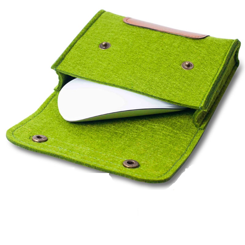 Felt Mouse pouch bag Felt Power Charger Case Pouch Hand Bag Cosmetic Bag Adapter Storage Bag Collection Computer Accessories(China (Mainland))