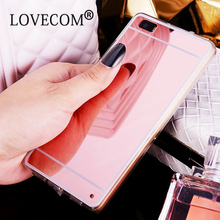 DIY Material Ultra Slim Mirror Phone Case Huawei P8 / Lite P9 Luxury Aluminum Acrylic Soft TPU Protective Cover - LOVECOM Store store