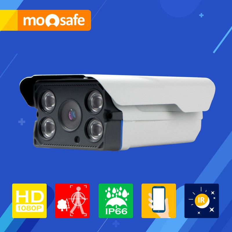 Mosafe 4 pcs IR Led Array 1920*1080P 2mp ip camera indoor outdoor waterproof IR night vision Onvif Surveillance Cameras(China (Mainland))