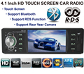 4 1 Inch AUX 1 DIN RDS function touch screen support rear view camera Car MP5