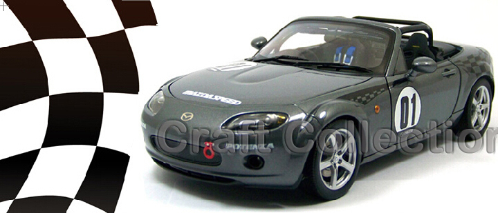 Grey Auto Art 1/18 MAZDA MX-5 MX5 #01 Sport Coupe Car Alloy Model Car MX 5 Convertible Classical Miniature Toys Limited Edition(China (Mainland))