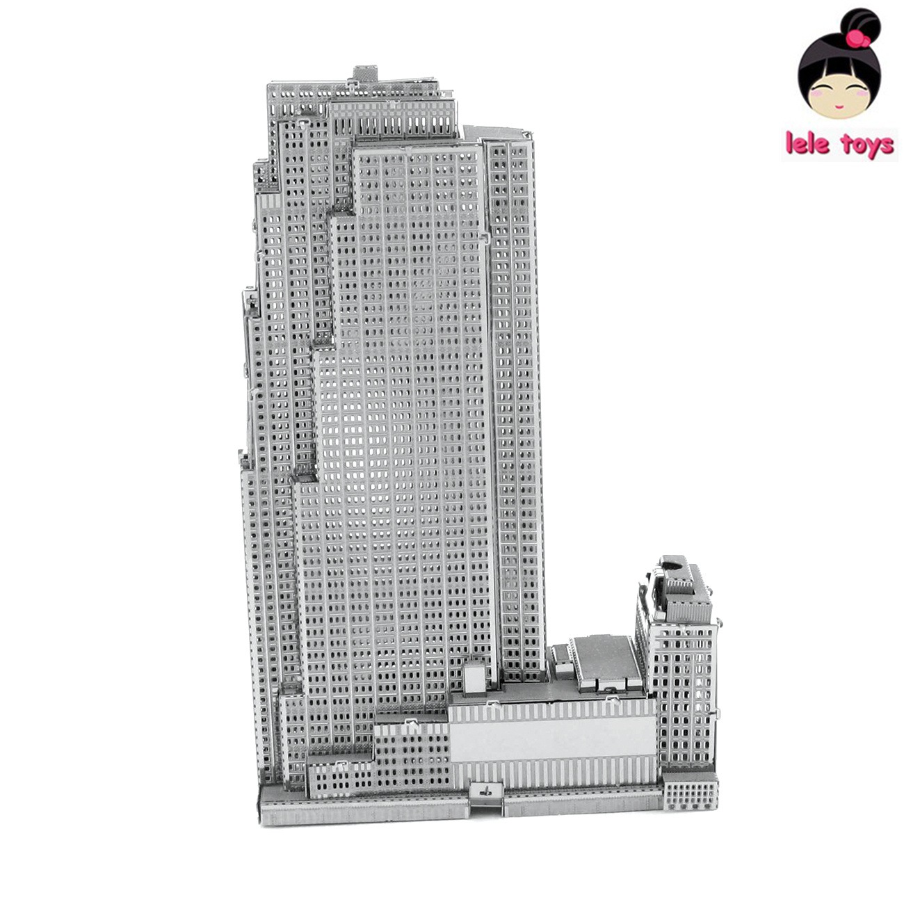Construction Famous buildings over the world 3D Metal model Puzzles 30 ROCKEFELLER PLAZA Chinese Metal Earth stainless steel(China (Mainland))