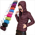 2016 Winter hot Sale Ultra Light Women Women s Hooded Down Jackets Outwear Parkas 90