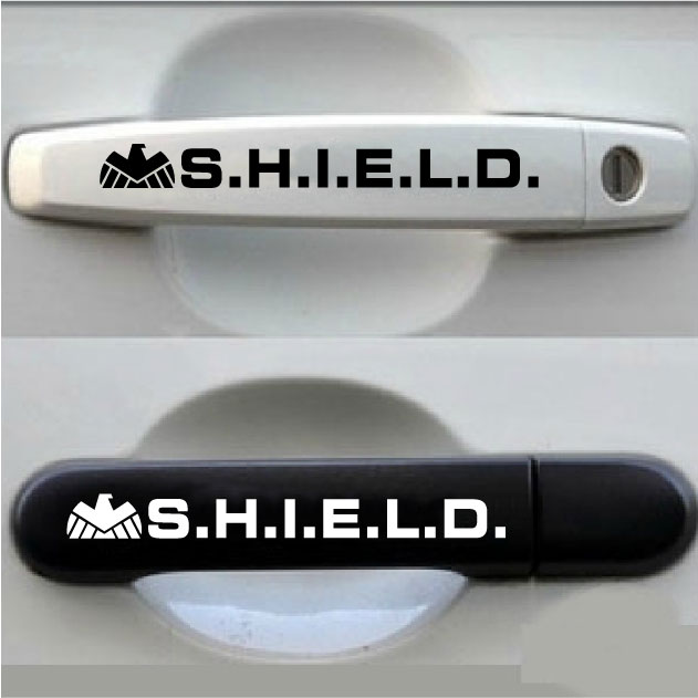 S.H.I.E.L.D Car Stickers Decal Cover Waterproof Reflective Car styling On Car Door Handerbar(China (Mainland))