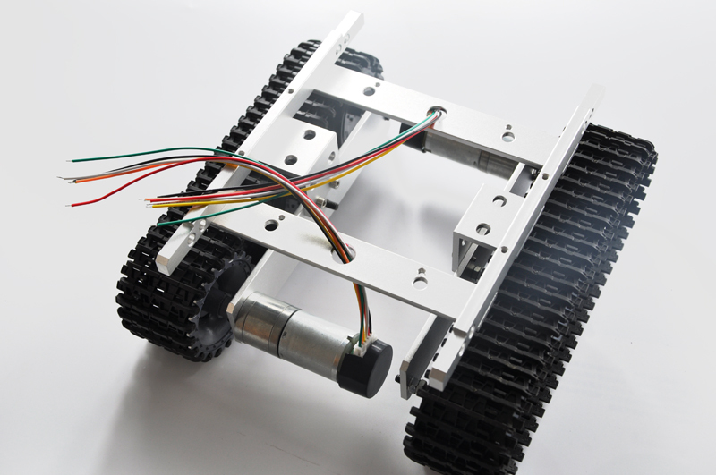Silver RC Tracked Tank Chassis , DIY toy ,rc tank(China (Mainland))