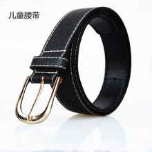 Kids Black belt children pin belt waist belt for kids boys girls fashion casual faux leather belts(China (Mainland))