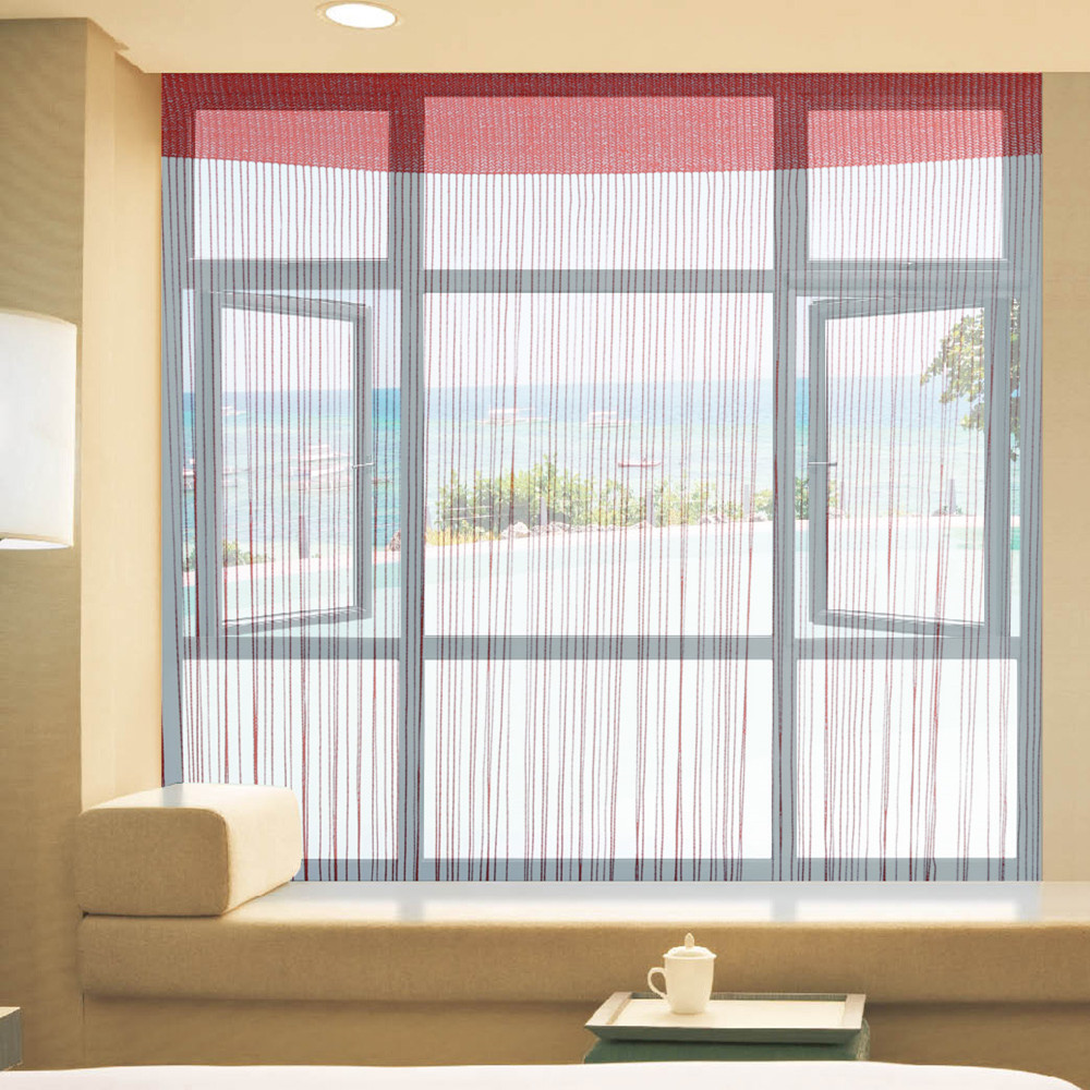300CM x 300CM High-quality polyester Decorative Solid Color Window Blind Room Divider String Line Curtain(China (Mainland))
