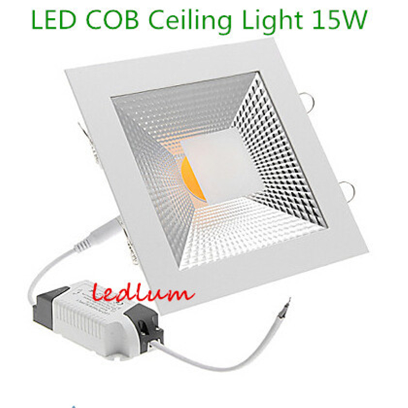 Dimmable 5W 10W 15W COB 500 -1500LM 3000-3500K Warm White 6000-6500K Cold White Light Squre LED COB Ceiling Lights AC 110-240V(China (Mainland))