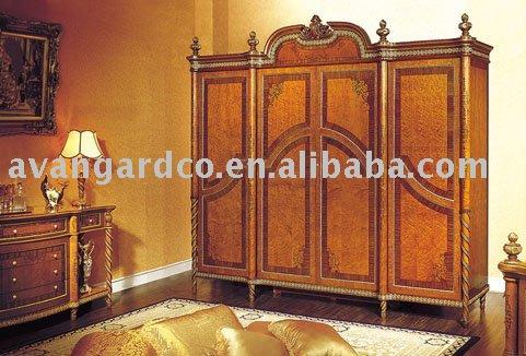 Soild wood 4 doors wardrobe(China (Mainland))