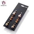 DANZE 9 Pairs Lot Trendy Rhinestone Stud Earrings Set Women Fashion Small Druzy Earings Ear Studs