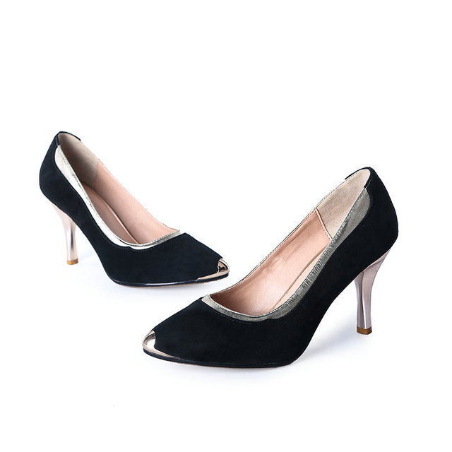 2015 new pointed high heel stiletto shoes fashion shoes for Europe sexy girls