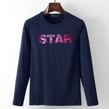 Mydbsh 2019 Весенняя хлопковая футболка с длинным рукавом Новая мода галактика Космическая Звезда 3D печатных мужчин s V шеи повседневные футболк...(China)