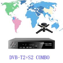 New Full HD 1080P DVB-T2 + S2 COMBO Digital Video Broadcasting TV Receiver H.264/MPEG-2/4 DVB-S/DVB-TBISS Key Set-Top Box