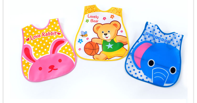 Baby Bibs EVA plastic Waterproof Lunch Bibs Boys Girls Infants Cartoon Pattern Bibs Baberos Bebes Burp Cloths(China (Mainland))