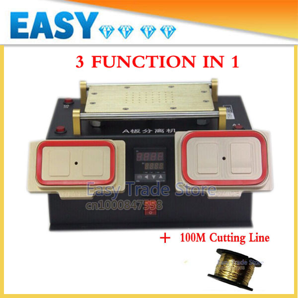 2014 Newest Black 3 function in 1 (Vacuum LCD Separator Machine,Preheating Station, Middle Frame Separator) With Free 100m Line(China (Mainland))