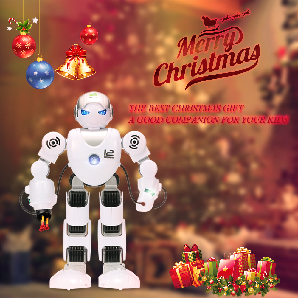 LE NENG TOYS K1 Intelligent Programmable Humaniod 2.4G Remote Control Robot with Shoot Music Dance Arm-swing Function(China (Mainland))