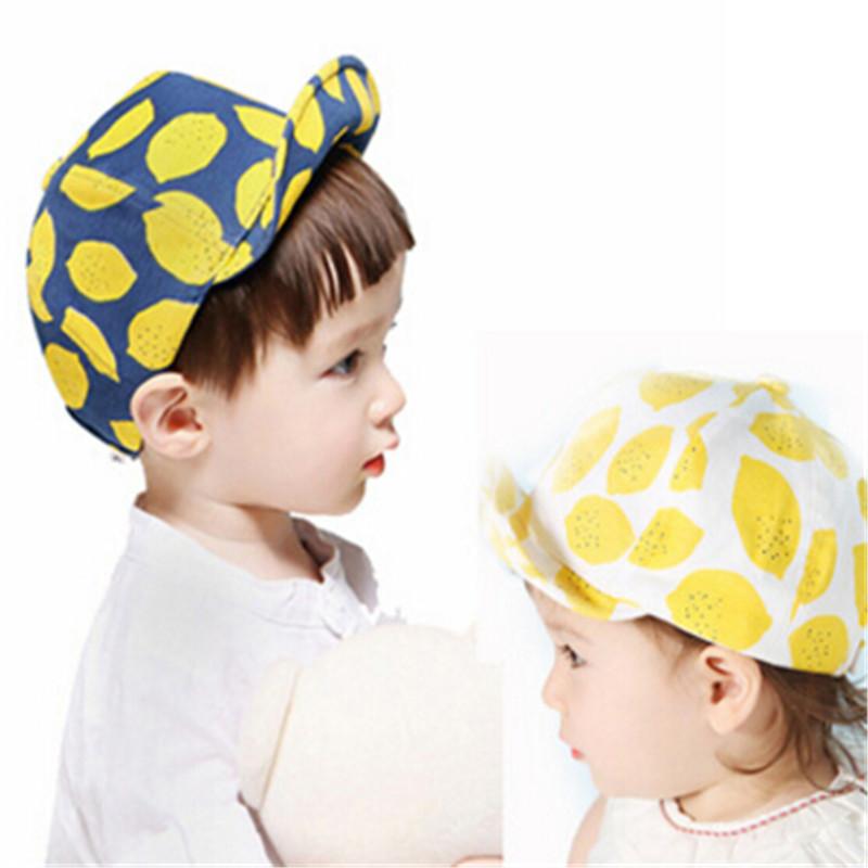 Newborn Cute Kid Baby Boy Girl Toddler Infant Hat Lemon Baseball Cap Baby Bonnet Cotton Kids Hats(China (Mainland))
