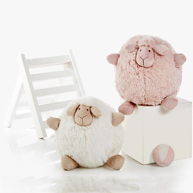 2016 Симпатичные 28 см большой плюшевые овец розовый и белый цвет мальчики и девочки Мягкие Чучела плюшевые игрушки оптом для ребенка подарок