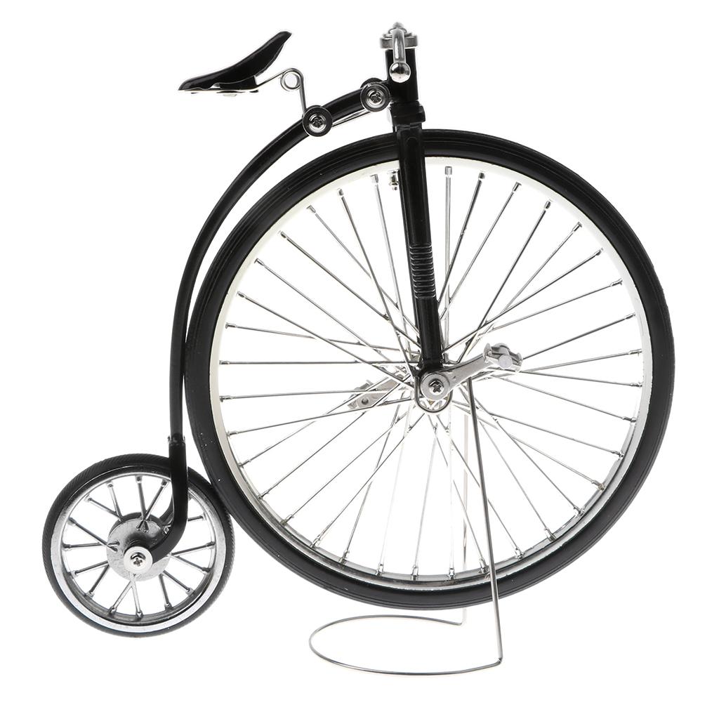 Retro Vintage 1:10 Alloy Diecast Racing Bicycle Bike Model Toy Playset Home Decor Dest Crafts Black