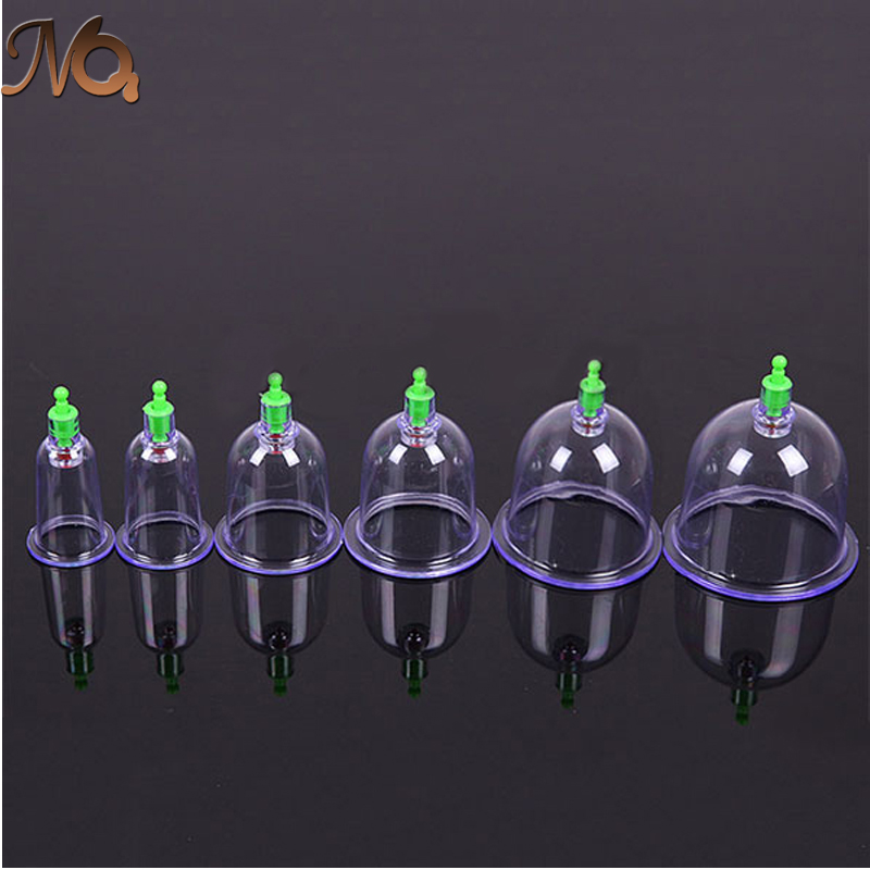 6pcs/set Massage Cupping Chinese Medical Vacuum Body Cupping Set Portable Massage Therapy Kit body relaxation Health Massage set(China (Mainland))