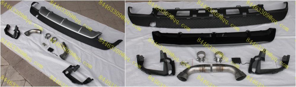 lina auto benz w117 cla180cla200cla250cla260 cla45 style diffuser lip muffler tip sport bumper fit - Online Store 222897 store