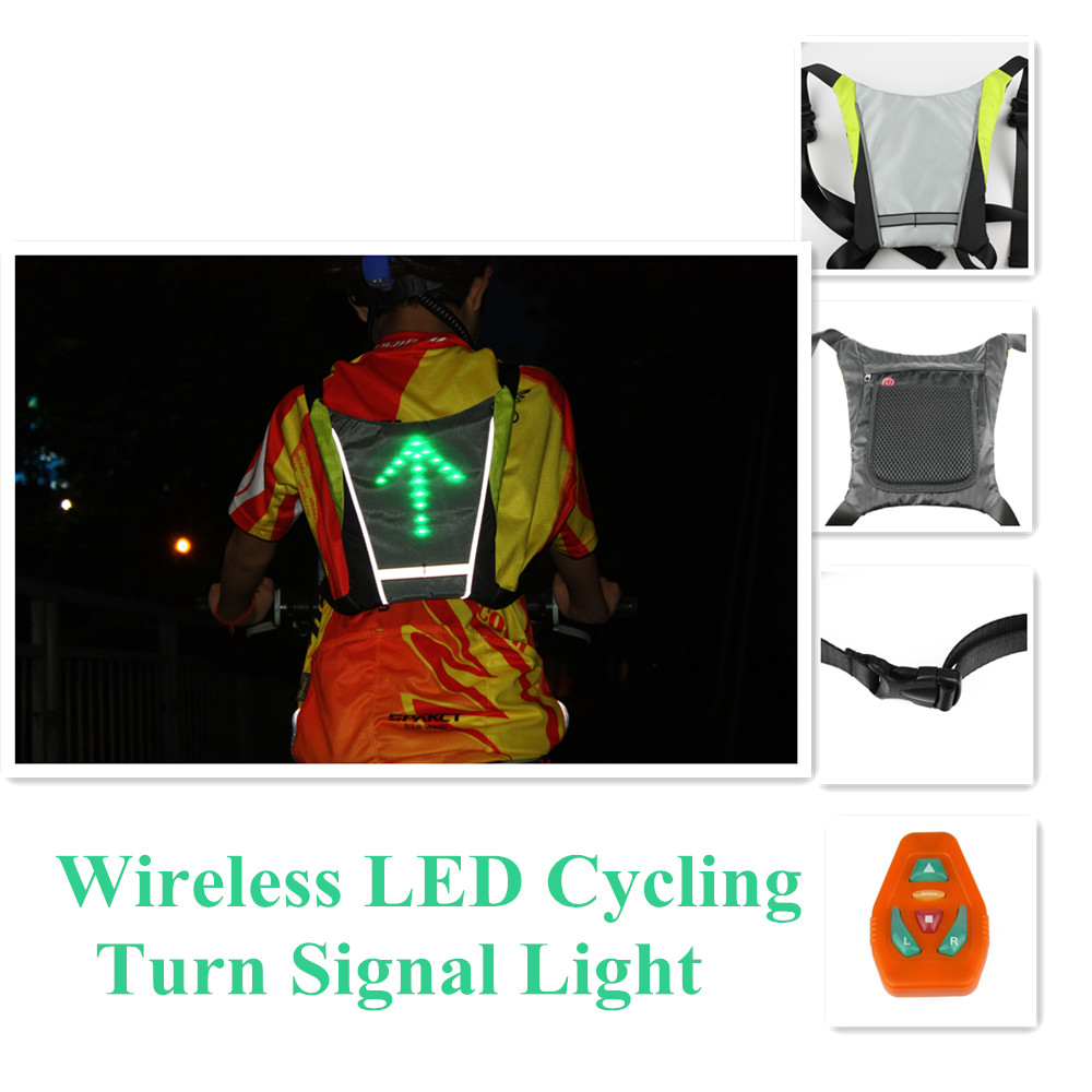 2014 World newest Cycling Accessory LED Traffic Signal Light With Remote Control Bicycle Backpack For Safety M-04 Free Shipping(China (Mainland))