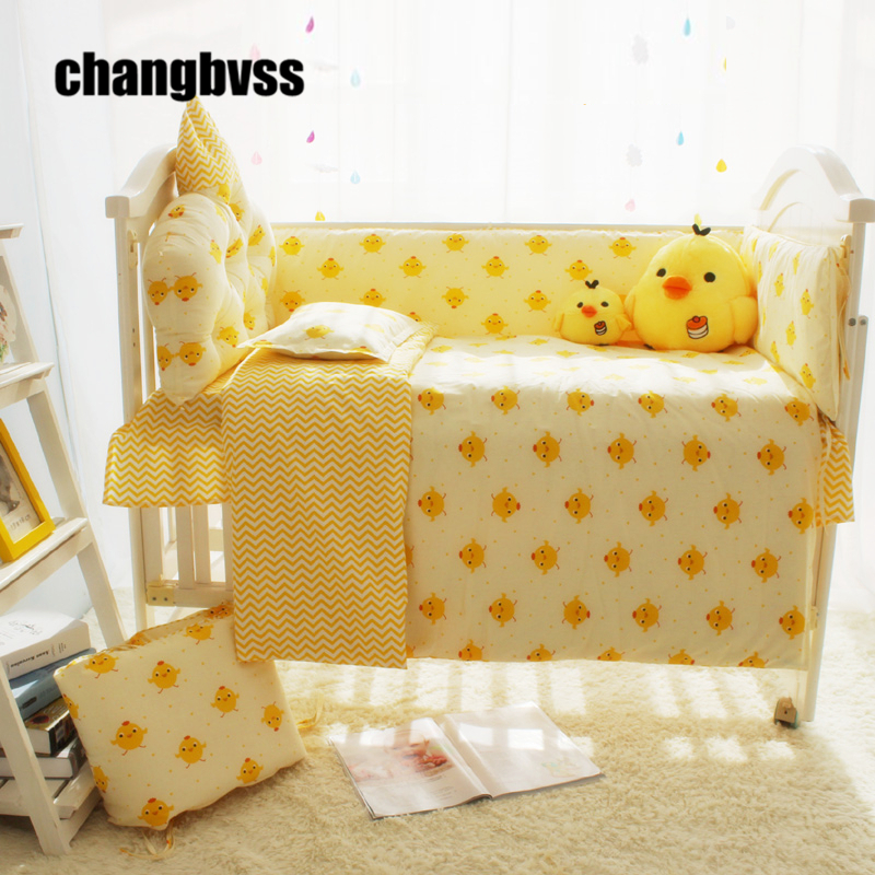 cute yellow chicken cartoon designer baby boy bedding cribs set baby