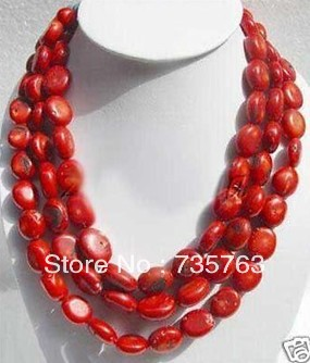 xiuli 0050 Fashion Jewelry 48inch Red Coral Necklace<br><br>Aliexpress