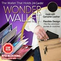 5 Pcs LOT 24Cards NEW Wonder Wallet Amazing Slim RFID Wallets As Seen on TV Black