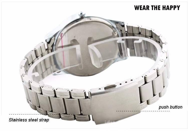 Бренд Анти-Cockwise Моды Классические Часы Женщины Кварцевые Наручные Часы Из Нержавеющей Стали Ремешок Жизнь Водонепроницаемый