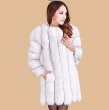 Hot!Free shipping 2016 Women's Fashion Raccoon dog Fur Coat Winter with Fox Fur Collar Outerwear Lady Garment Overcoat Plus Size(China (Mainland))