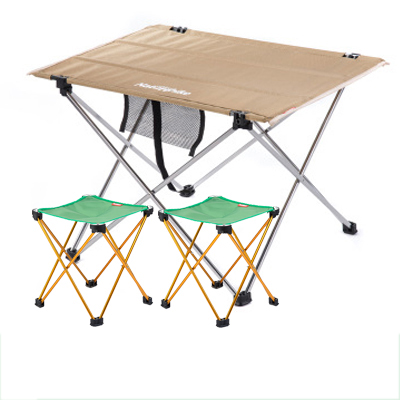 POINT BREAK NH15D012-M Khaki Small folding table+Green Folding Chair*2 Combination, Outdoor Table Fishing Leisure Chairs(China (Mainland))